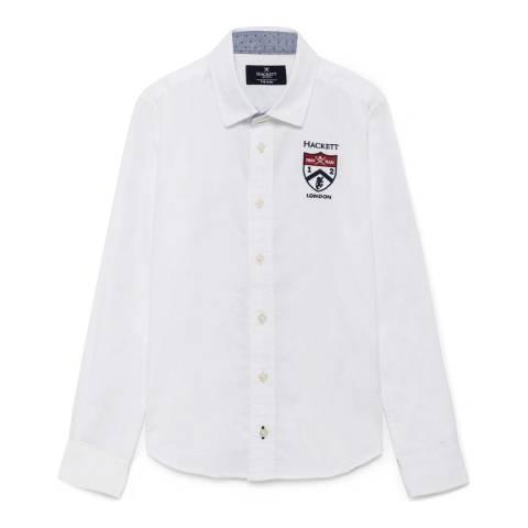 Hackett London Older Boy's White Shield Shirt