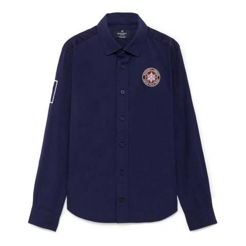 Hackett London Older Boy's Navy Snow Shirt