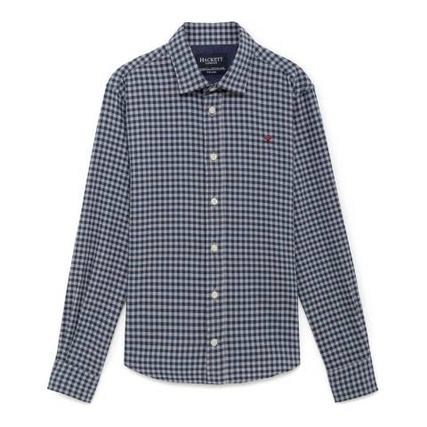 Hackett London Older Boy's Navy/Grey Winter Shirt