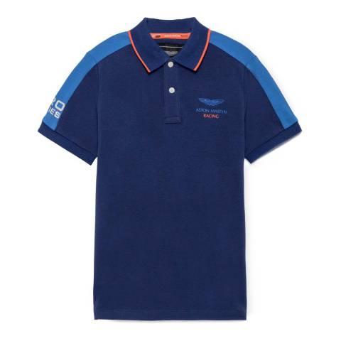 Hackett London Navy Short Sleeve Polo