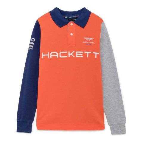 Hackett London Younger Boy's Multicoloured Long Sleeve Polo