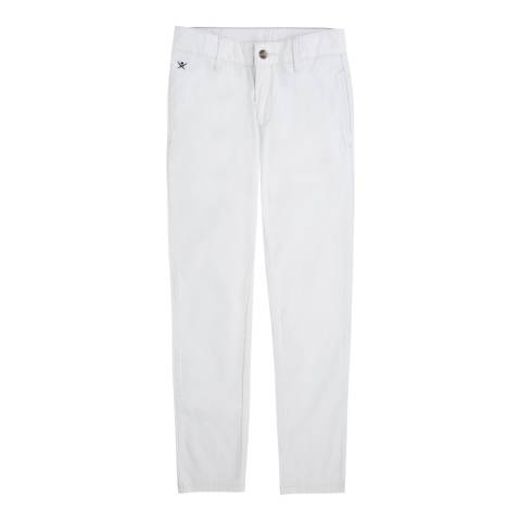 Hackett London Younger Boy's Stone Cotton Classic Chinos