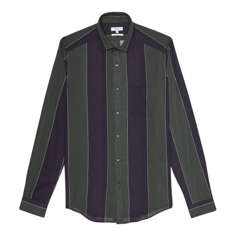 Reiss Green Gosling Voile Cotton Shirt