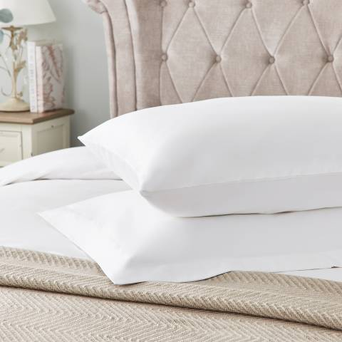 Hotel Living 600TC Oxford Pillowcase, White