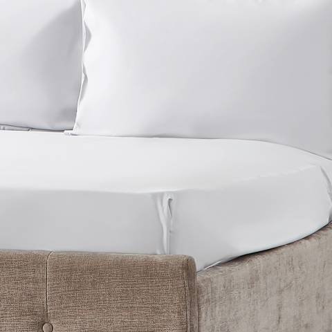 Hotel Living 600TC Double Fitted Sheet, White