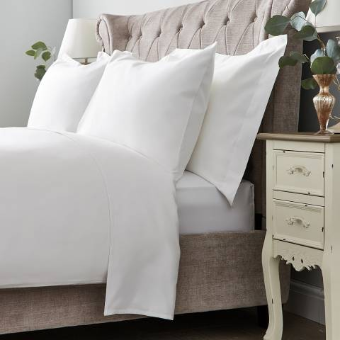 Hotel Living 600TC King Flat Sheet, White