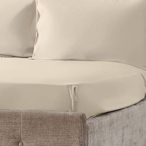 Hotel Living 600TC King Fitted Sheet, Ivory,