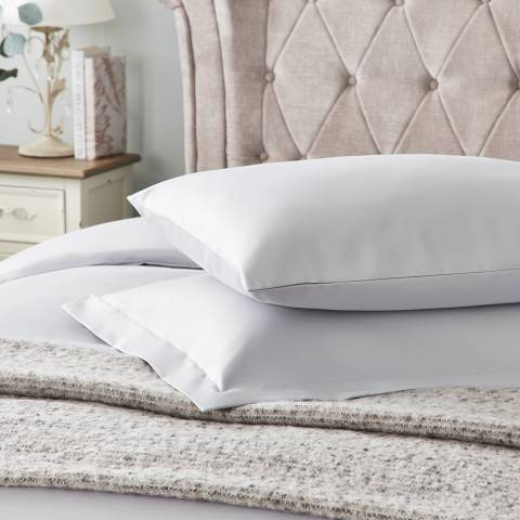 Hotel Living 600TC Oxford Pillowcase, Ice Grey
