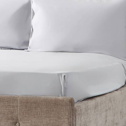 Hotel Living 600TC Super King Fitted Sheet, Ice Grey