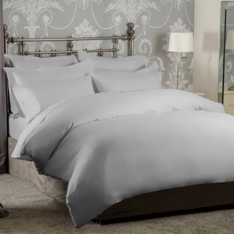 Belledorm 1200TC Super King Duvet Cover, Platinum