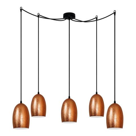 Sotto Luce Ume Pendant Light, Copper Leaves/Opal