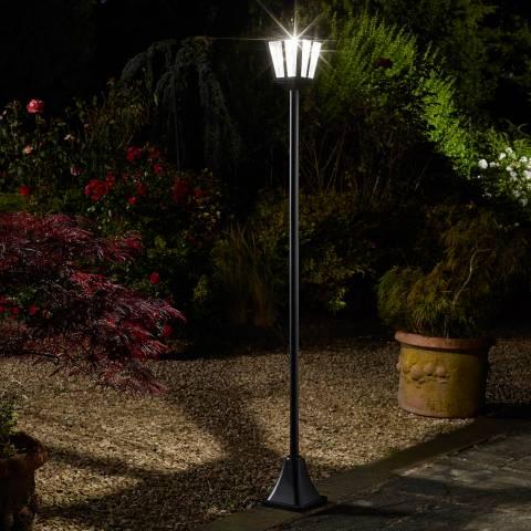 Smart Solar Black Whitehall Lamp Post