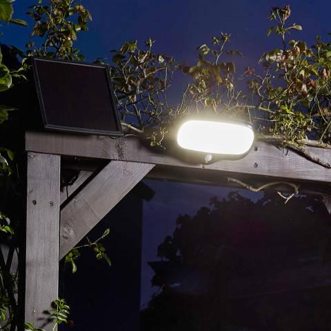 Smart Solar Black PIR 500L Security Floodlight