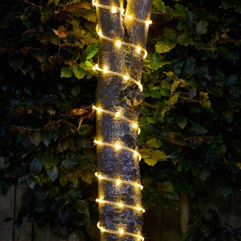 Smart Solar Clear 100 LED Rope of 100 Lights