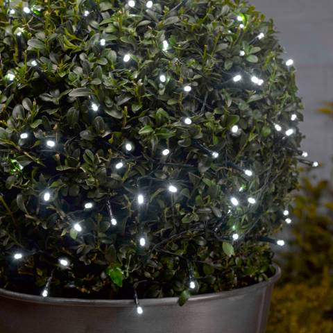 Smart Solar Black/White LED String of 100 Lights
