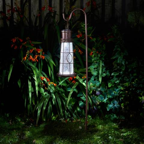 Smart Solar Bronze Lighthouse Stake Lantern