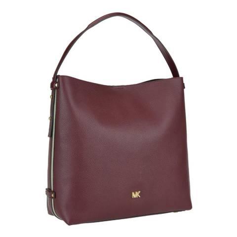 Michael Kors Red Griffin Large Leather Shoulder Bag