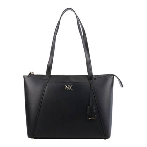 Michael Kors Black Maddie MD Tote Bag