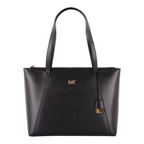 Michael Kors Black Maddie LG Tote Bag