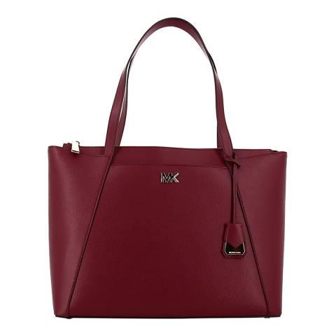 Michael Kors Maroon Maddie LG Tote Bag