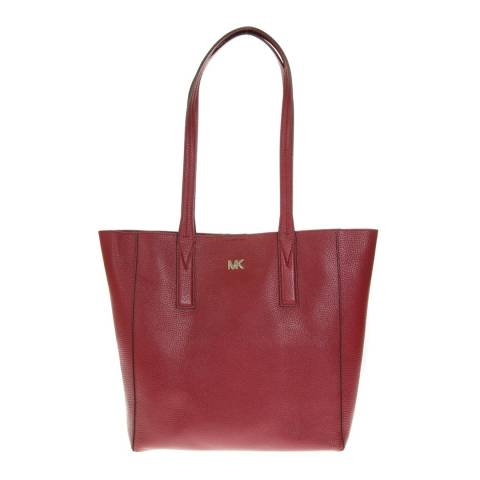 Michael Kors Maroon Junie MD Tote Bag