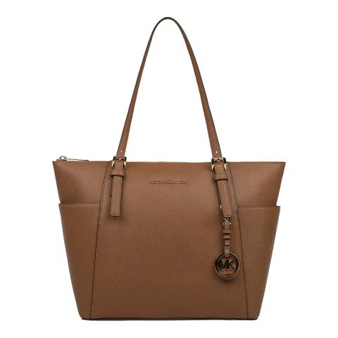 Michael Kors Brown Jet Set Leather Shoulder Bag