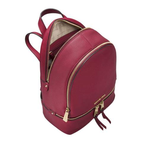 Michael Kors Maroon Rhea Leather Backpack