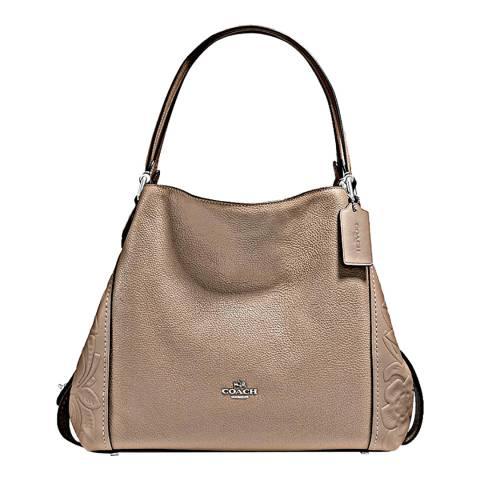 Coach Stone Tea Leather Rosetooling Edie Bag