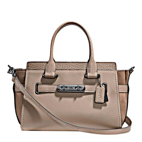 Coach Stone Mixed Leather Refresh Coach 27 Swagger Bag
