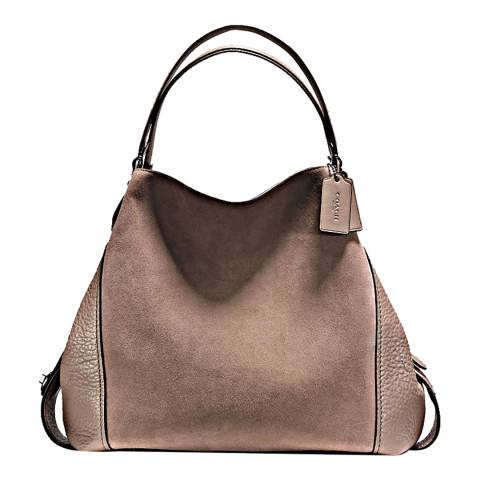 Coach Stone Mixed Leather Edie 42 Refresh Bag