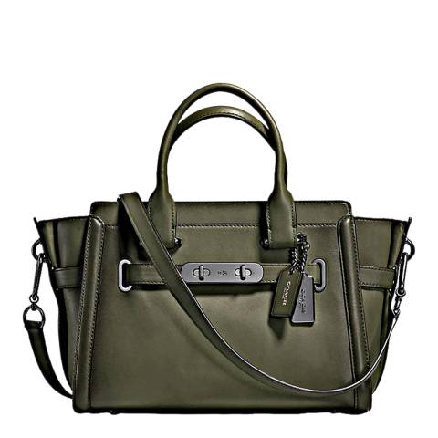 Coach Khaki Surplus Burnished Coach Swagger 27 Bag