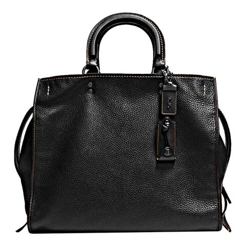 Coach Black Glovetanned Pebble Leather Rogue 36 Bag