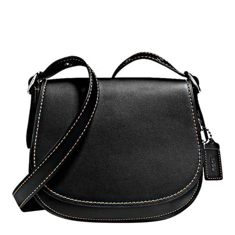 Coach Black Glovetanned Leather Saddle 23 Bag