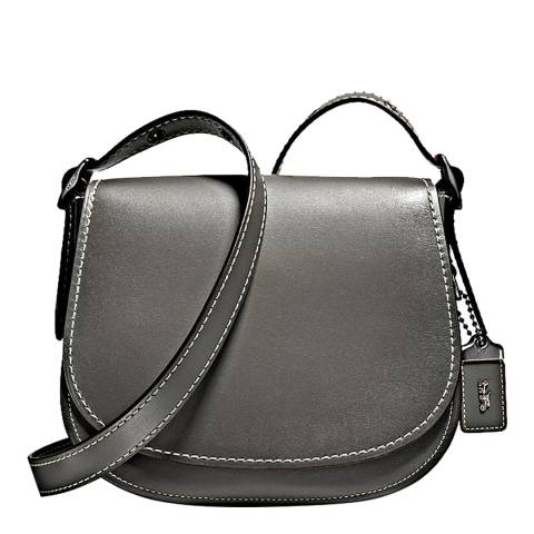 Coach Heather Grey Glovetanned Leather Saddle 23 Bag