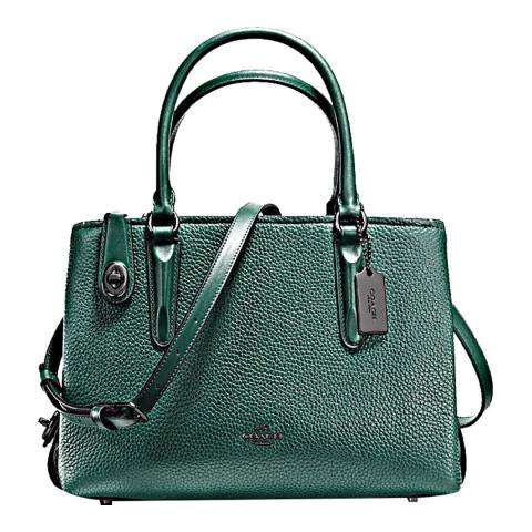 Coach Pebble Leather Brooklyn 28 Carryall