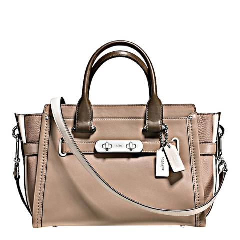 Coach Stone/Multi Colorblock Swagger 27 Bag
