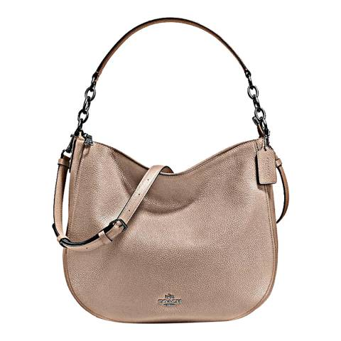 Coach Stone Polished Pebble Leather Chelsea 32 Hobo Bag