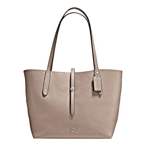 Coach Stone Dusty Rose Polish Pebble Leather Market Tote Bag