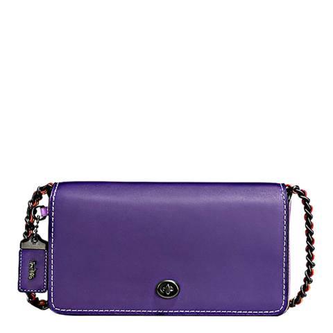 Coach Purple/Violet Colourblock Leather Dinky Bag