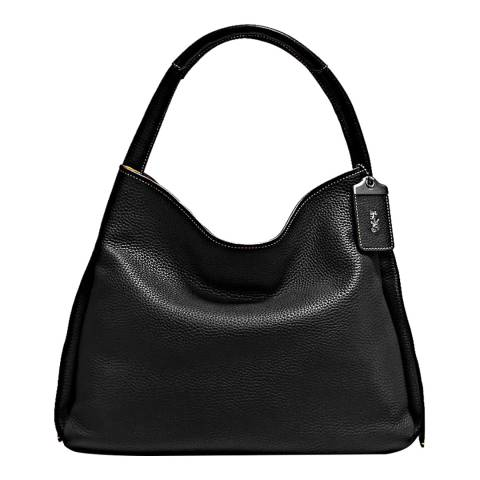 Coach Black Glovetanned Pebble Leather Bandit Hobo 39 Bag