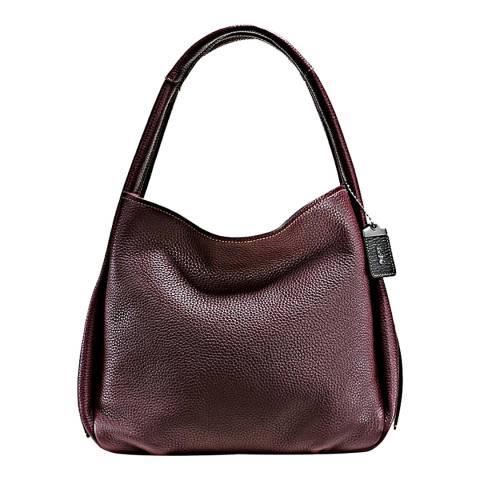 Coach Oxblood Glovetanned Pebble Leather Bandit Hobo Bag