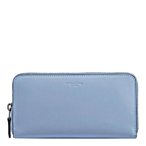 Coach Cornflower Leather Accordion Zip Wallet