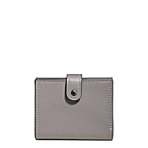 Coach Heather Grey Leather Small Trifold Wallet