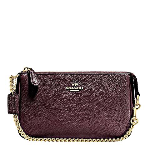Coach Oxblood Leather Nolita Wristlet