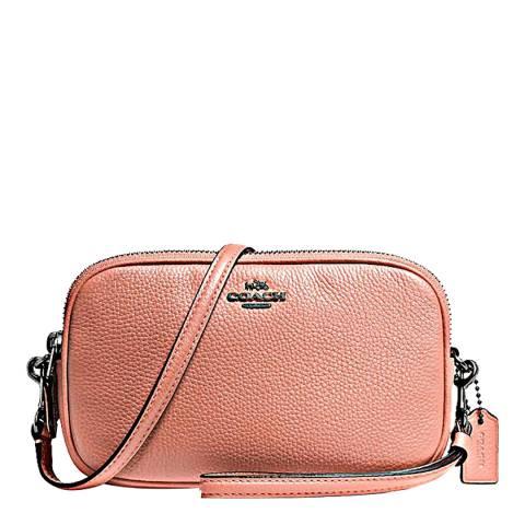 Coach Melon Pebbled Leather Crossbody Clutch Bag