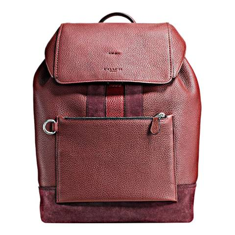Coach Brick Red/Cherry Leather Manhattan Backpack