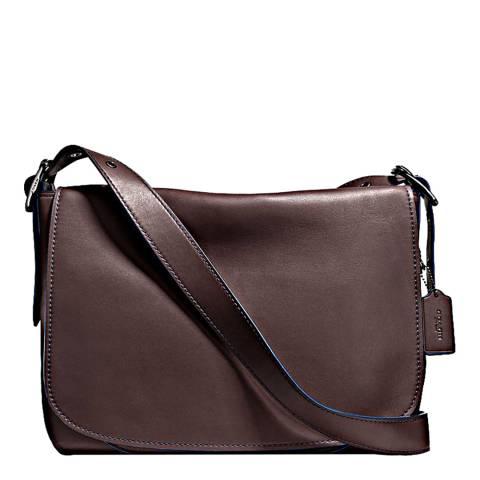 Coach Mahogany Leather Messenger Saddle Bag