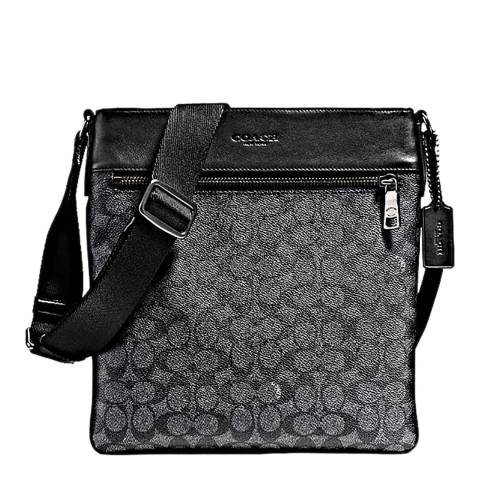 Coach Men's Charcoal Bowery Crossbody Bag