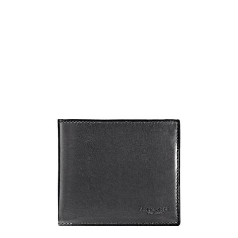 Coach Graphite Double Billfold Leather Wallet