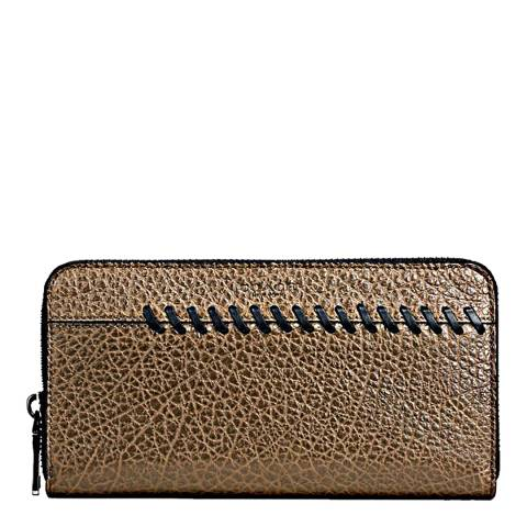Coach Fatigue Rip And Repair Texture Accordion Wallet